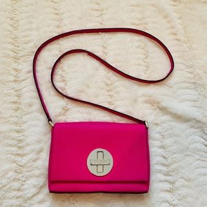 Kate Spade bright pink leather small crossbody
